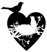 Impression Obsession - Cling Stamp - Love Birds Solid - By Alesa Baker