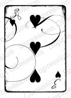 Impression Obsession - Cling Stamp - by Alesa Baker - Three of Hearts