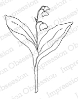 Impression Obsession - Cling Mounted Rubber Stamp - By Alesa Baker - Simple Lily
