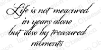 Impression Obsession - Cling Stamp - by Alesa Baker - Treasured Moments