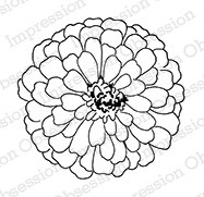 Impression Obsession - Cling Mounted Rubber Stamp - By Alesa Baker - Zinnia Large