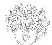 Impression Obsession Cling Mounted Rubber Stamp by Tara Caldwell - Tea Cup Flowers