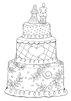 Impression Obsession Cling Mounted Rubber Stamp by Tara Caldwell - Wedding Cake