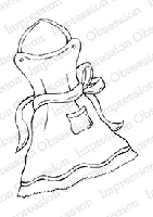 Impression Obsession - Cling Mounted Rubber Stamp - By Tara Caldwell - Full Apron