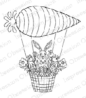Impression Obsession - Cling Mounted Rubber Stamp - By Leigh Hannan - Carrot Balloon