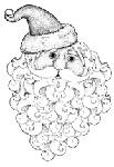 Impression Obsession-Cling Stamp-Santa Head