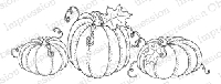 Impression Obsession - Cling Mounted Rubber Stamp - By Gail Green - Pumpkins
