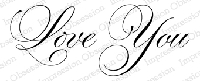 Impression Obsession - Cling Stamp - by Alesa Baker - Love You Large