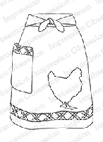 Impression Obsession - Cling Mounted Rubber Stamp - By Alesa Baker - Farm Fresh Apron