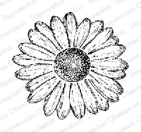 Impression Obsession - Cling Mounted Rubber Stamp - By Tara Caldwell - Hand Drawn Daisy