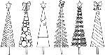 Impression Obsession Cling Mounted Rubber Stamp - Tall Trees