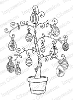 Impression Obsession - Cling Mounted Rubber Stamp - By Gail Green - Easter Egg Tree