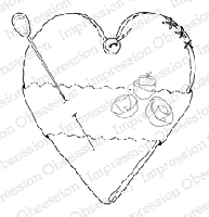 Impression Obsession - Cling Stamp - by Alesa Baker - Shabby Heart