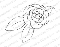 Impression Obsession - Cling Mounted Rubber Stamp - By Alesa Baker - Camellia 1