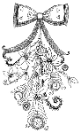 Impression Obsession-Cling Stamp-Christmas Tassle