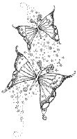 Impression Obsession - Cling Stamp - Butterflies - By Hannah Davies