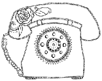 Impression Obsession - Cling Stamp - Phone Me - By Hannah Davies