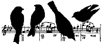 Impression Obsession - Cling Stamp - Birds on Music