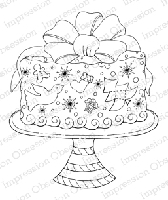 Impression Obsession - Cling Mounted Rubber Stamp - By Tara Caldwell - Ornament Cake