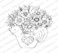 Impression Obsession - Cling Mounted Rubber Stamp - By Tara Caldwell - Rooster Arrangement