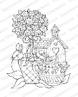 Impression Obsession - Cling Mounted Rubber Stamp - By Tara Caldwell - Garden Theme