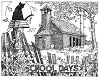 Impression Obsession-Cling Stamp-School Days