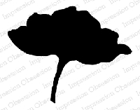 Impression Obsession - Cling Mounted Rubber Stamp - By Alesa Baker - Large Solid Poppy