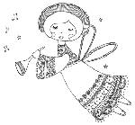 Impression Obsession-Cling Stamp-Angel