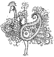 Impression Obsession - Cling Stamp -Peacock - By Hannah Davies