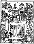 Impression Obsession Cling Mounted Rubber Stamp - House with Gate