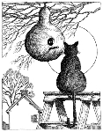 Impression Obsession-Cling Stamp-Cat w/Gourd