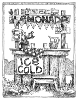 Impression Obsession - Cling Stamp - Lemonade Stand - By Gary Robertson