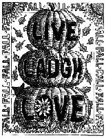 Impression Obsession - Cling Mounted Rubber Stamp - By Gary Robertson - Live Laugh Love Pumpkin