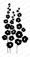 Impression Obsession - Cling Stamp - by Alesa Baker - Full Bloom Hollyhocks