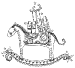 Impression Obsession-Cling Stamp-Rocking Horse