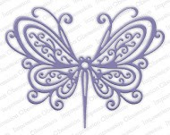 Impression Obsession - Die - Open Scroll Butterfly