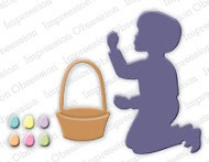 Impression Obsession - Die - Boy with Easter Basket