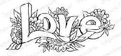 Impression Obsession - Cling Mounted Rubber Stamp - By Tara Caldwell - Floral Love