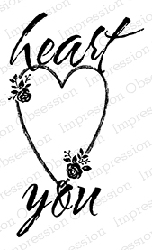 Impression Obsession - Cling Mounted Rubber Stamp - By Alesa Baker - Heart You