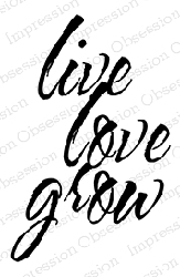 Impression Obsession - Cling Mounted Rubber Stamp - By Alesa Baker - Live Love Grow
