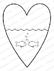 Impression Obsession - Cling Mounted Rubber Stamp - By Alesa Baker - Fishy Love