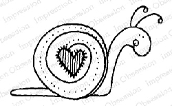 Impression Obsession - Cling Mounted Rubber Stamp - By Lindsay Ostrom - Sweetie Snail