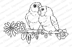 Impression Obsession - Cling Mounted Rubber Stamp - By Gail Green - Lovebirds