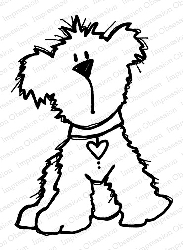 Impression Obsession - Cling Mounted Rubber Stamp - By Nola Chandler - Love Pup