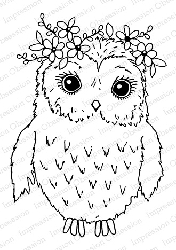 Impression Obsession - Cling Mounted Rubber Stamp - By Gail Green - Floral Owl