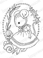Impression Obsession - Cling Mounted Rubber Stamp - By Carmen Medlin - Seaside Mouse