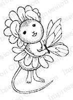 Impression Obsession - Cling Mounted Rubber Stamp - By Carmen Medlin - Daisy Mouse