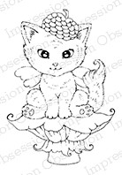 Impression Obsession - Cling Mounted Rubber Stamp - By Carmen Medlin - Fairy Kitty