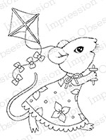 Impression Obsession - Cling Mounted Rubber Stamp - By Carmen Medlin - Fly A Kite