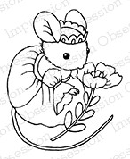 Impression Obsession - Cling Mounted Rubber Stamp - By Carmen Medlin - Mouse Princess